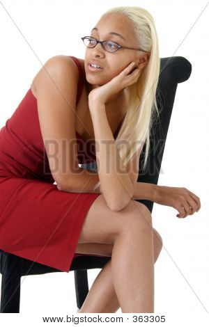 Attractive Young Woman Looking Bored