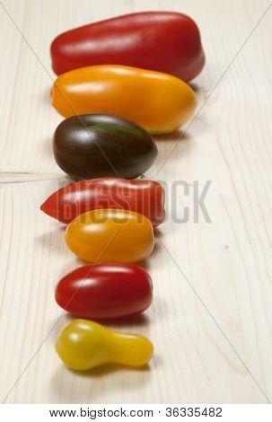 Seven  Oblong Tomatos