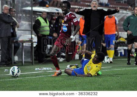 Soccer player dribbling