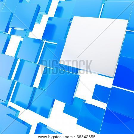Abstract Background Chaotic Glossy Plate Compositon