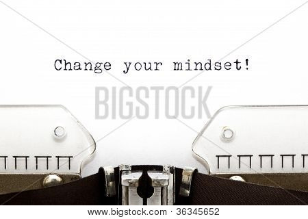 Typewriter Change Your Mindset