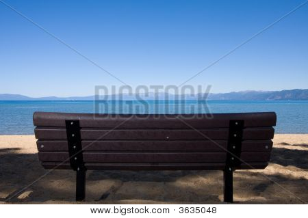 Bench On Beach