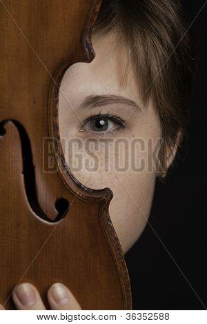 Teenage Female Violinist Eye