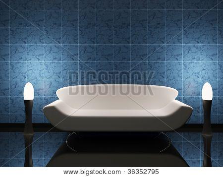 Interior With A Sofa