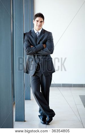 young businessman full length portrait