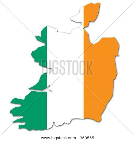 Ireland Map And Flag