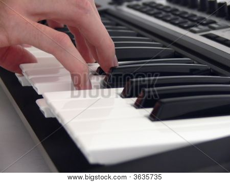 Playing On Human Piano.