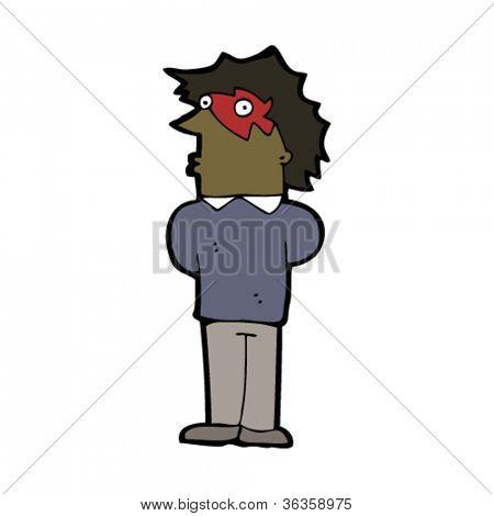 man wearing face paint cartoon