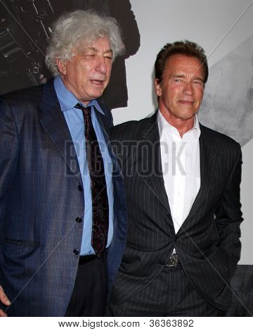 Los Angeles - AUG 15:  Avi Lerner, Arnold Schwarzenegger arrives at the
