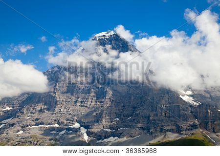 North face of Eiger the most challenging ascent in the swiss alps