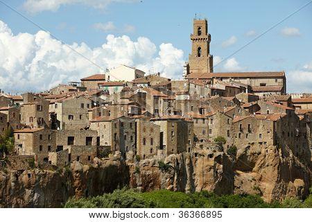 Panorama of Pitigliano, Tuscany