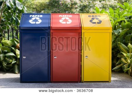 Colorful Recycle Bin