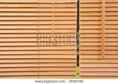 Wood Jalousie Close Up
