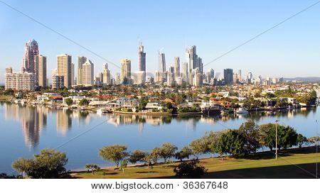 Gold Coast City early morning