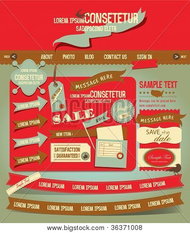 Vintage Web design elements 3