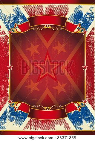 confederate poster. Background of Confederate poster with a large frame for your message