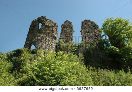 Ruins Of Medieval Castle In Hust