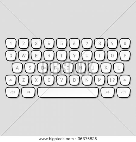 Keyboard keys. Vector.