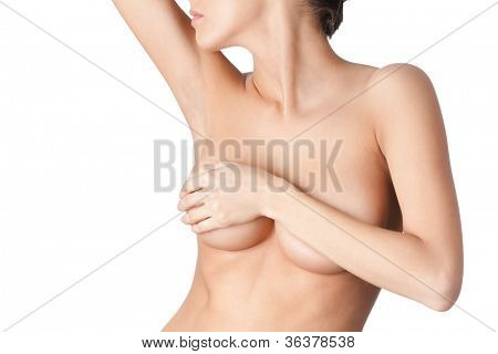 Beauty of the body, isolated, white background