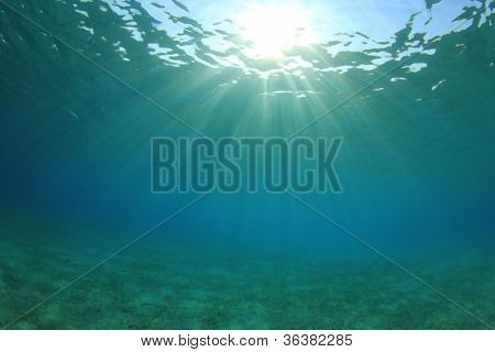Underwater Background of Sun, Sea and Sand