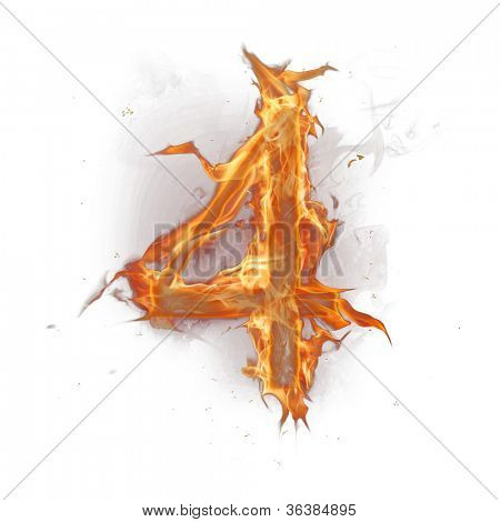 Fire alphabet number 4