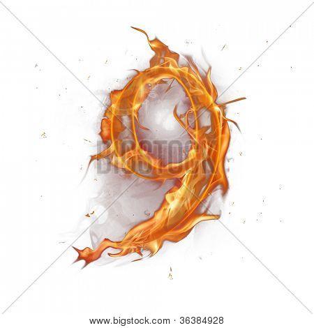 Fire alphabet number 9