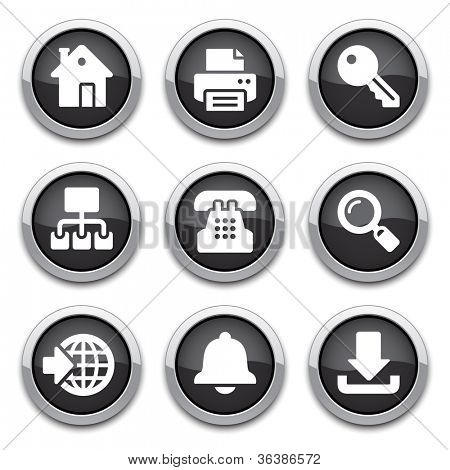 black internet buttons