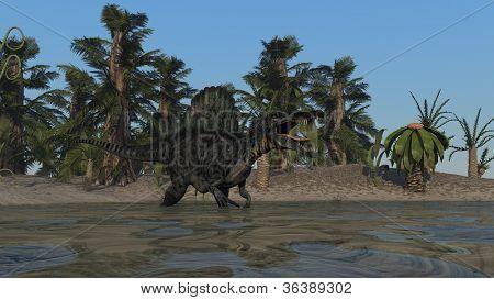 spinosaurus in water