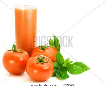 Fresh Tomatoes With Basilico Herb