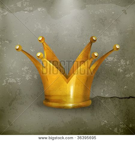 Design Element Crown gold, old-style vector