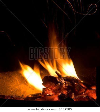 Burning Wood Fire