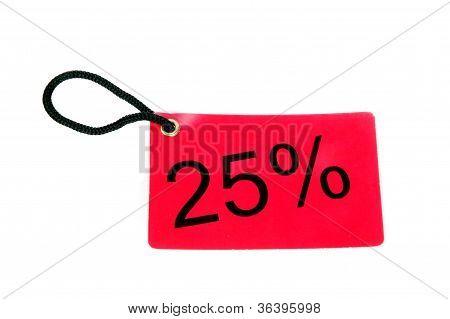Twenty-five Percent Paper Tag