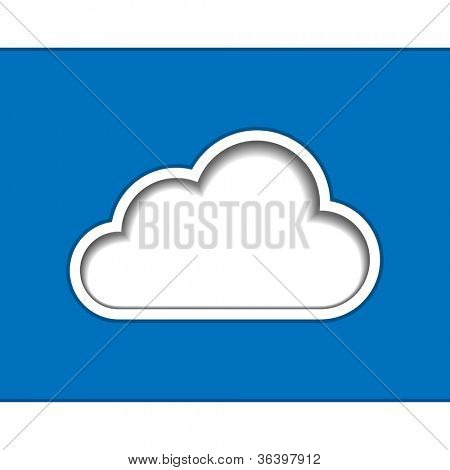 Cloud computing logo template. Vector illustration