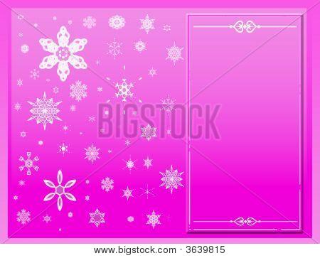Copos de nieve en rosa