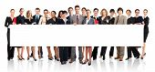 pic of people work  - Large group of young smiling business people - JPG