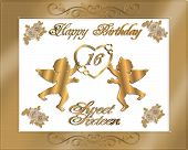 picture of sweet sixteen  - Illustration composition for Sweet 16 birthday party invitation - JPG