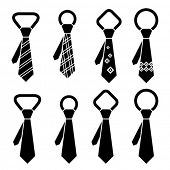stock photo of ceremonial clothing  - vector tie black symbols - JPG