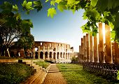 stock photo of arena  - Colosseum in Rome - JPG