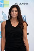 Los Angeles - AUG 19:  Hope Solo arrives at the 2012 Do Something Awards at Barker Hanger on August