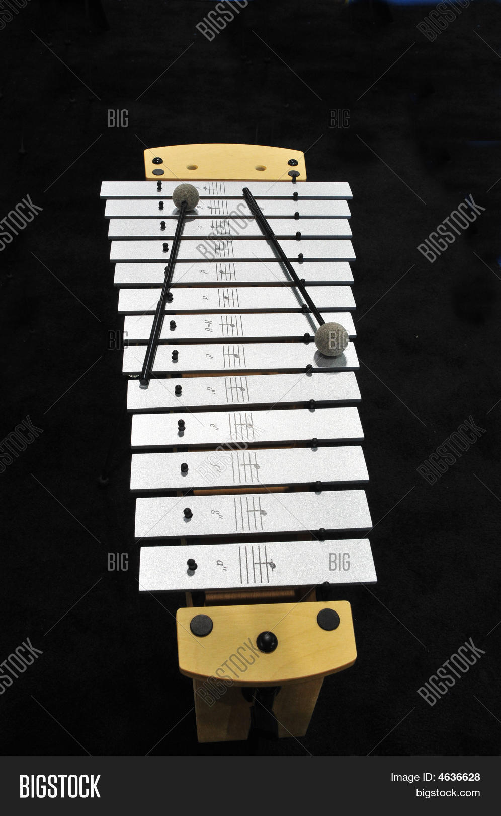 metal xylophone with mallets stock photo stock images. Black Bedroom Furniture Sets. Home Design Ideas
