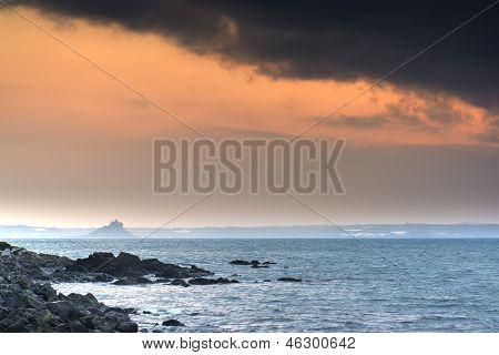 St Michael's Mount Bay Marazion sunrise landscape