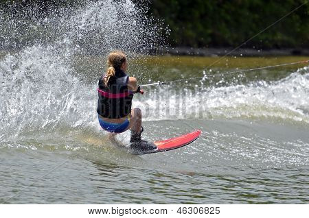 Girl Water Skiing