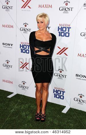 JLOS ANGELES - MAY 15:  Kellie Pickler arrives at the 2013 Maxim Hot 100 Party at the Vanguard on May 15, 2013 in Los Angeles, CA