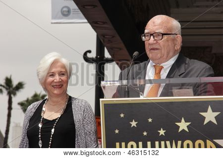 LOS ANGELES - MAY 24:  Olympia Dukakis, Ed Asner at the ceremony bestowing Olympia Dukakis with a Star on the Hollywood Walk of Fame at the Hollywood Walk of Fame on May 24, 2013 in Los Angeles, CA