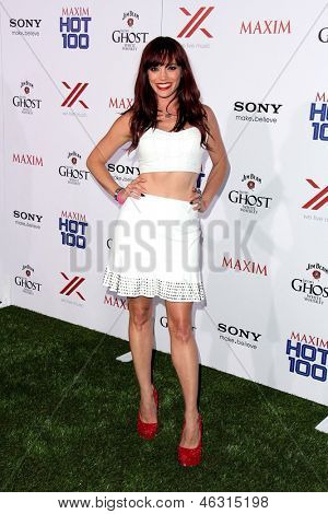 JLOS ANGELES - MAY 15:  Jessica Sutta arrives at the 2013 Maxim Hot 100 Party at the Vanguard on May 15, 2013 in Los Angeles, CA