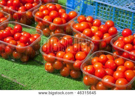 Anzeige von Tomaten