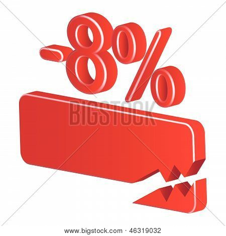 Minus Eight Per Cent (red)