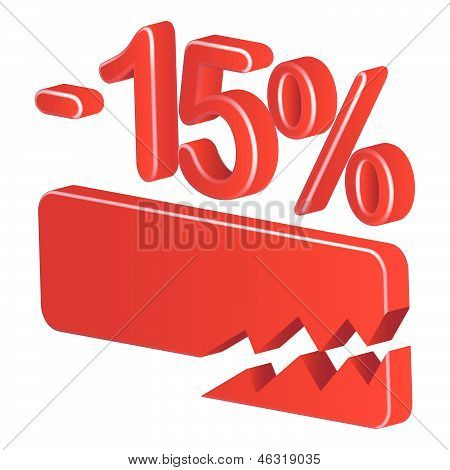 Minus Fifteen Per Cent (red)