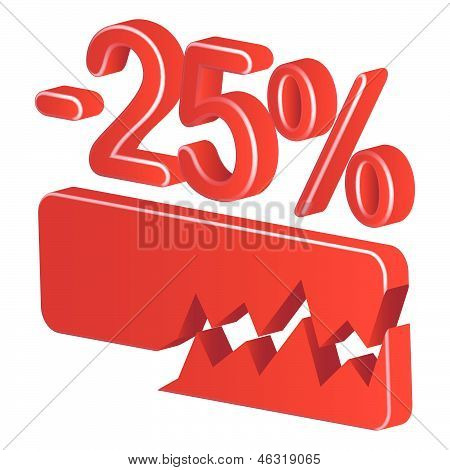 Minus Twenty Five Per Cent (red)