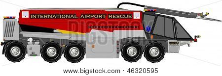 Airport Rescue Fire Truck